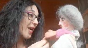 Laura Mercadante e la sua puppet